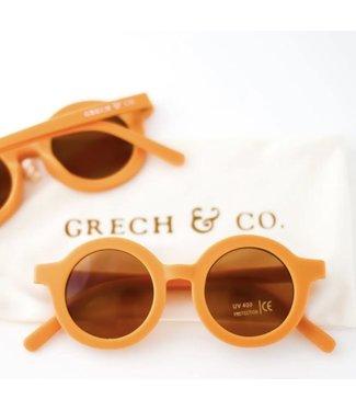 Grech & Co Duurzame zonnebril - Goud/Oranje