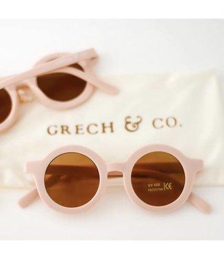 Grech & Co Duurzame zonnebril - Shell/Zacht roze