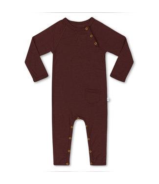 Little Savage Baby jumpsuit - Chocolade bruin