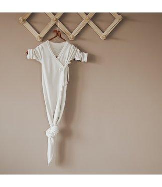 Little Savage Kimono gown slaapzak - Bone wit