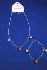 "Baby armband ""Aardbei"" zilver 11-13cm"