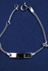 """Plaatarmbandje zilver  """"zirconia"""" 11-13cm"""