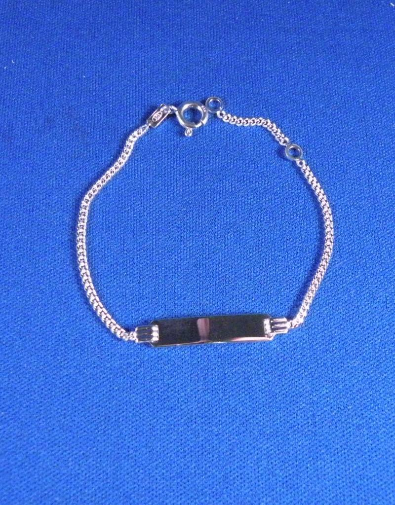 Plaatarmbandje zilver 13-15 cm