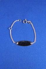 Plaatarmbandje zilver 9-11 cm