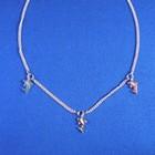 """Bedelcollier zilver """"dolfijntjes"""" 36-38 cm"""