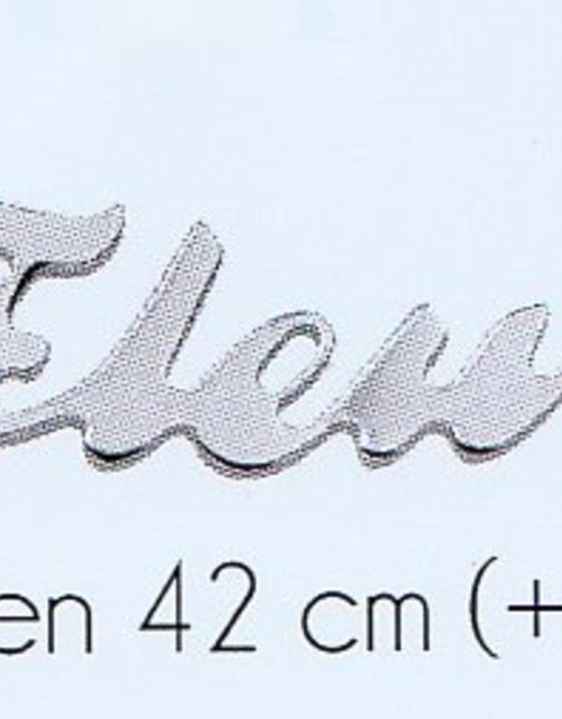 Naam collier zilver (volwassenen)