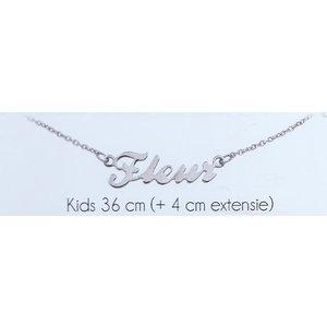 Naam collier zilver (kids)