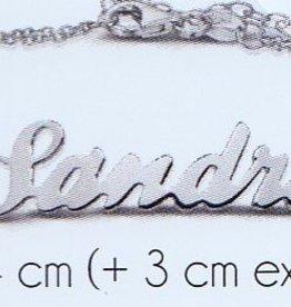 Naam armband zilver (kids)