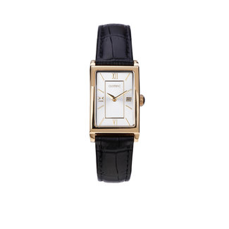 Olympic Olympic OL89DDL008 Boston Horloge - Leer - Zwart - 28mm