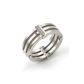 Boccia Damesring Titanium Zilverkleurig 0126-01