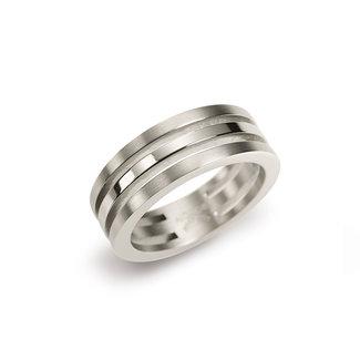 Boccia 0128-01 - Damesring - Titanium - Zilverkleurig
