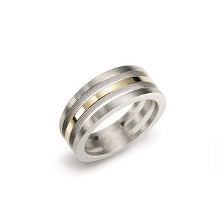 Boccia Damesring Titanium Meerkleurig 0128-02