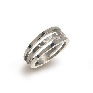 Boccia Damesring Titanium Zilverkleurig 0128-03