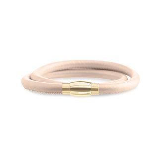 Boccia Boccia Titanium 0395-03 armband - Leer - Bruin
