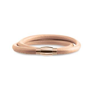 Boccia Boccia Titanium 0395-04 armband - Leer - Bruin