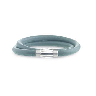 Boccia Boccia Titanium 0395-05 armband - Leer - Zwart