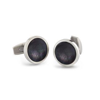 Boccia 0604-04 - Herenmanchetknoop - Titanium - Meerkleurig