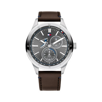 Tommy Hilfiger TH1791637 - Herenhorloge - Leer - Ø44