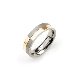 Boccia 0101-10 - Unisexring - Titanium - Meerkleurig