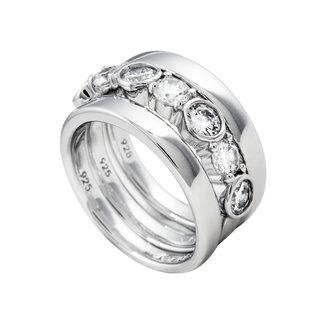 Diamonfire Damesring Zilver Zilverkleurig 61.1096.1082