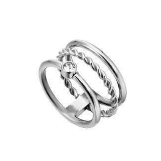 Esprit Damesring Staal Zilverkleurig ESRG000421