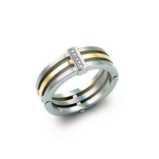 Boccia Damesring Titanium Zilverkleurig 0126-02