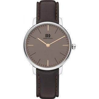 Danish Design Dameshorloge Leer Bruin Ø30 IV18Q1175