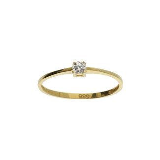 GLOW 14 karaat gouden ring met zirkonia 214.1000