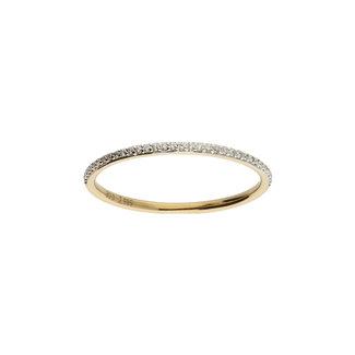 GLOW 14 karaat gouden ring rivière met diamant 0.33crt 214.2076