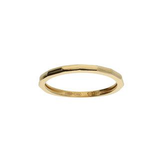 GLOW 14 karaat gouden ring bamboo