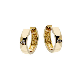 GLOW 14 karaat gouden oorringen met diamant 207.2003.00
