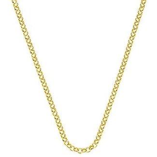 Emozioni Zilveren goudkleurige jasseron ketting 46cm
