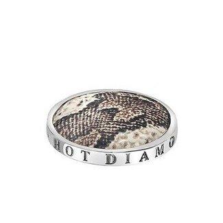 Emozioni Zilveren coin met slangenprint 25mm