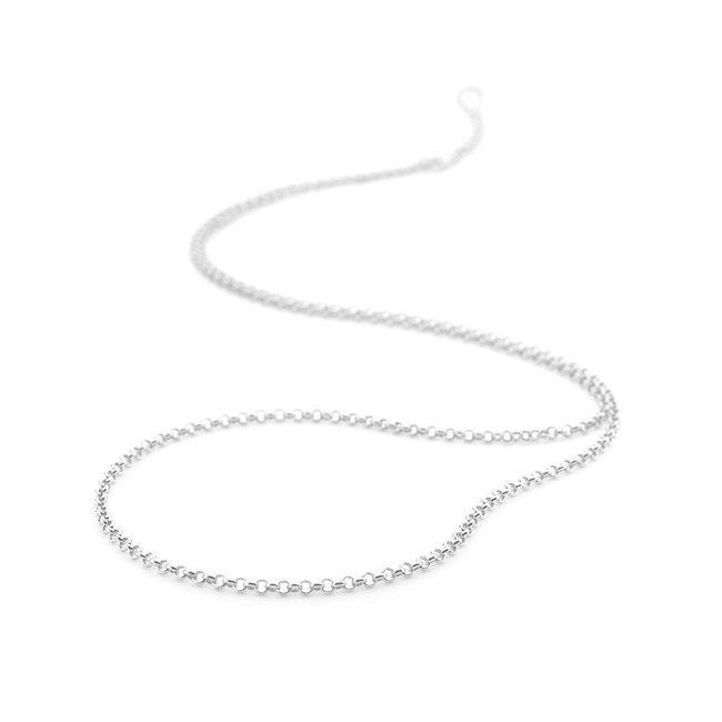 Emozioni Zilveren jasseron ketting 75cm