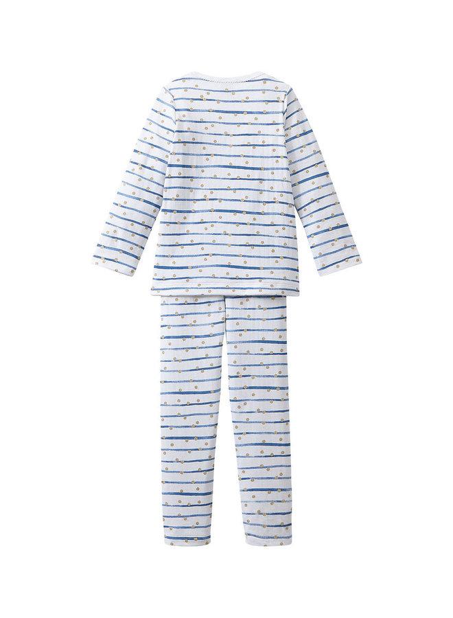Petit Bateau Pyjama Streifen und Dots