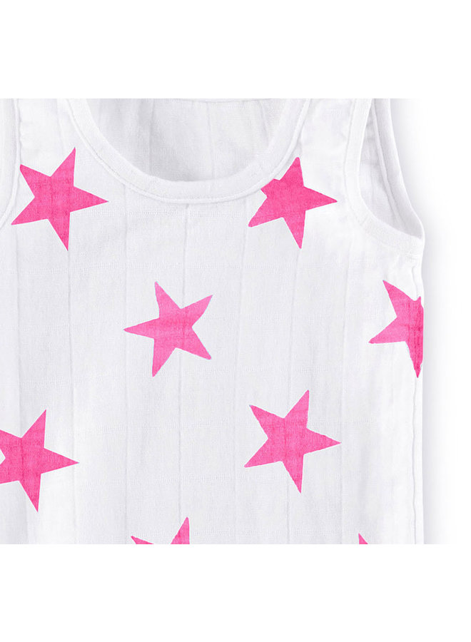 aden + anais Body Tank Sterne pink baby