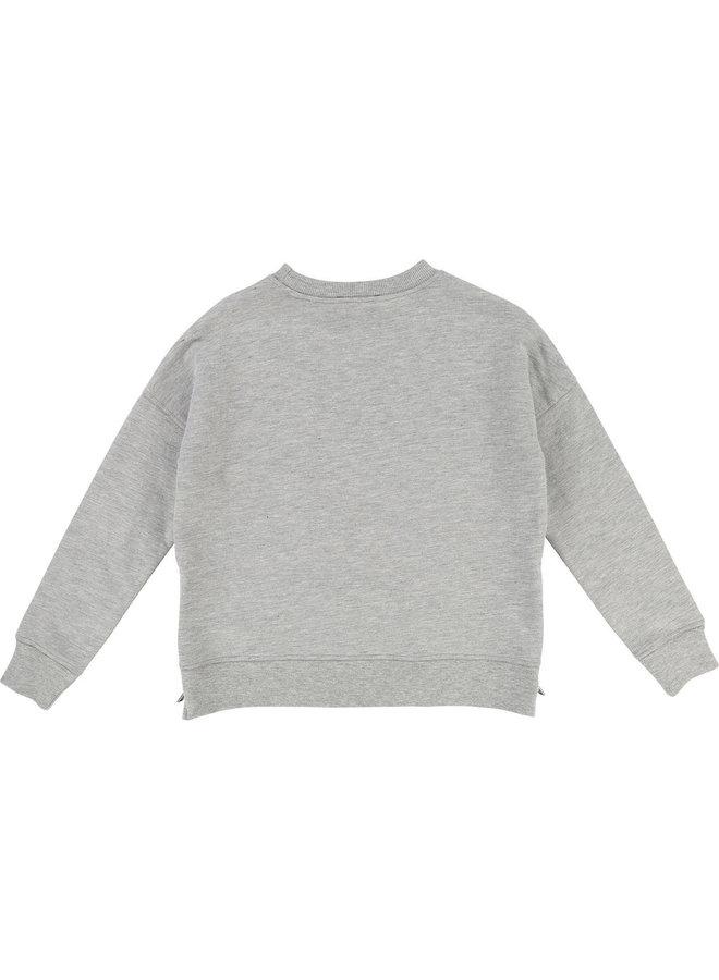 Zadig & Voltaire Sweatshirt grau grün metallic