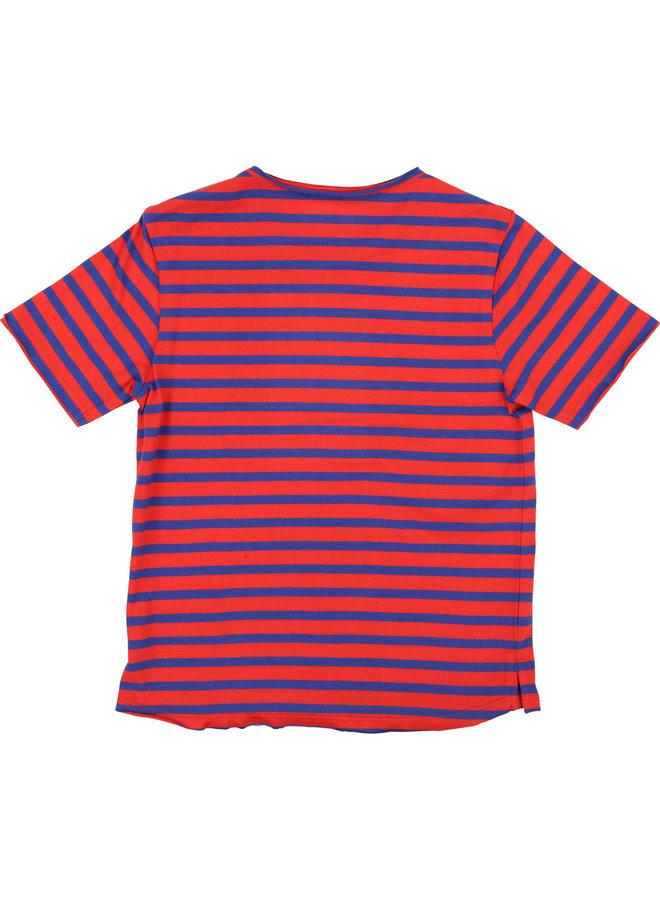 Zadig & Voltaire T-Shirt blau rot gestreift für coole Boys