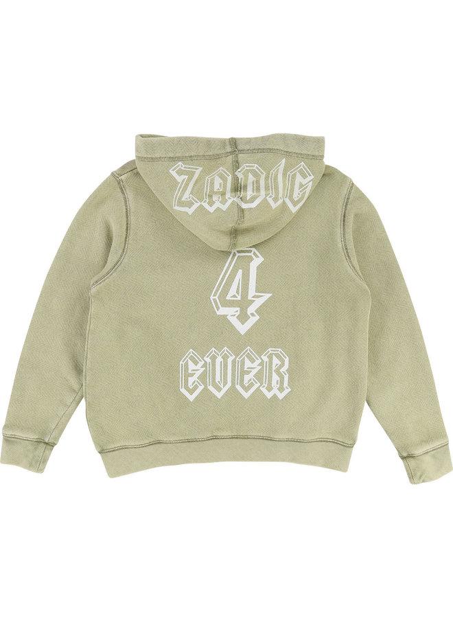 Zadig & Voltaire Hoodie Me beige khaki strukturiert
