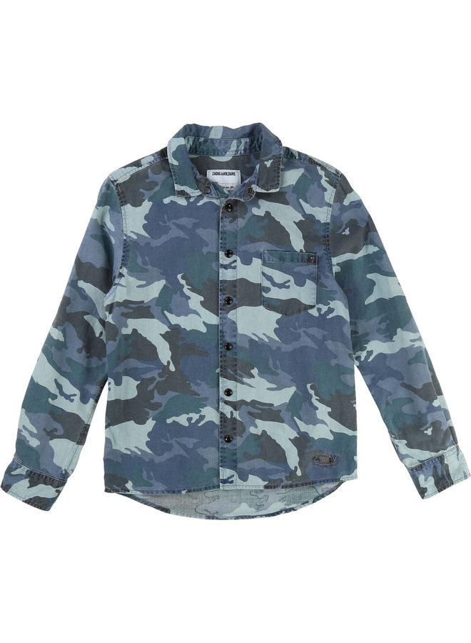 Zadig & Voltaire Hemd Camouflage