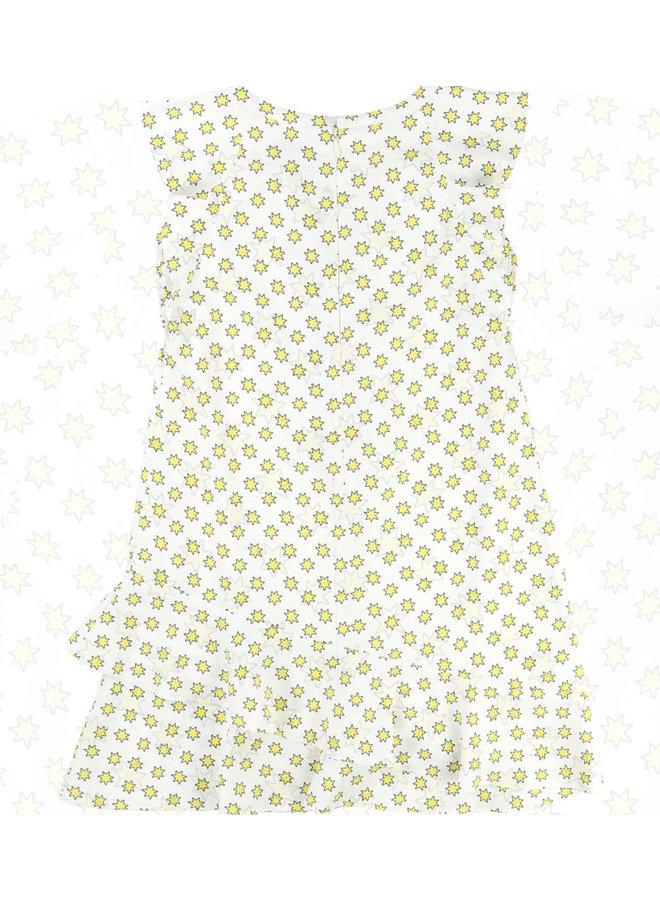 Zadig & Voltaire Kleid Sterne weiß gelb