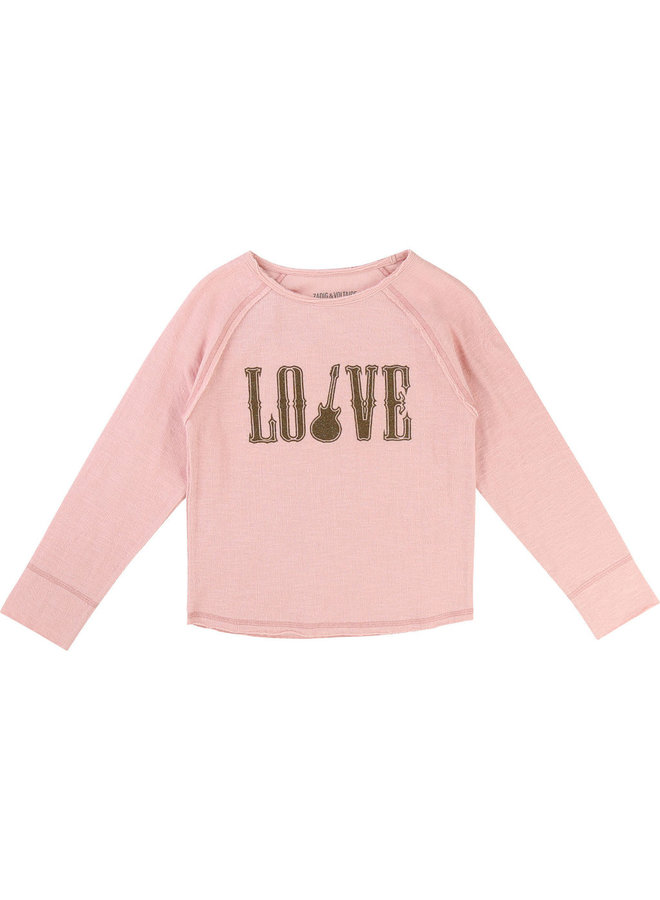 Zadig & Voltaire Strickpullover LOVE rosa gold