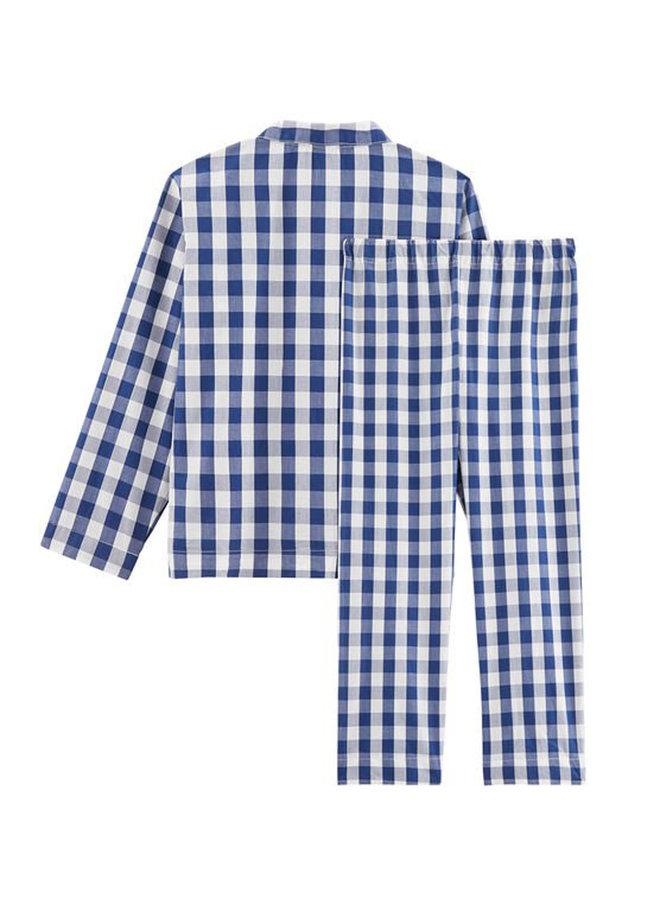 Petit Bateau Twill Pyjama im Karo Retro Look