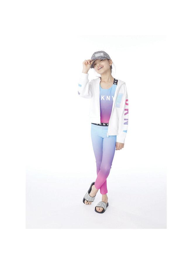 DKNY KIDS Leggings pink blau Logo