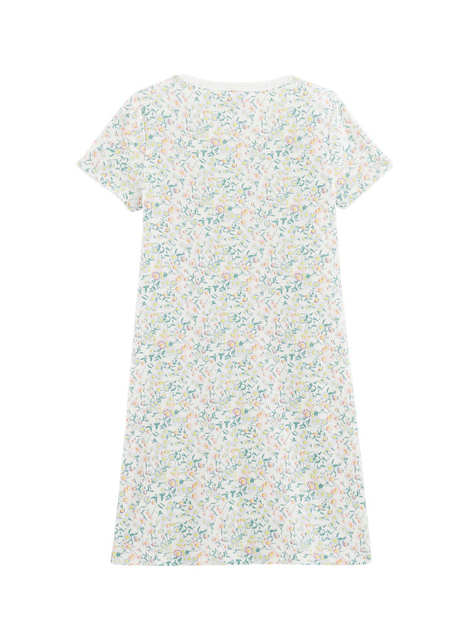 Petit Bateau Nachthemd kurzarm mit  zartem Blumenmuster