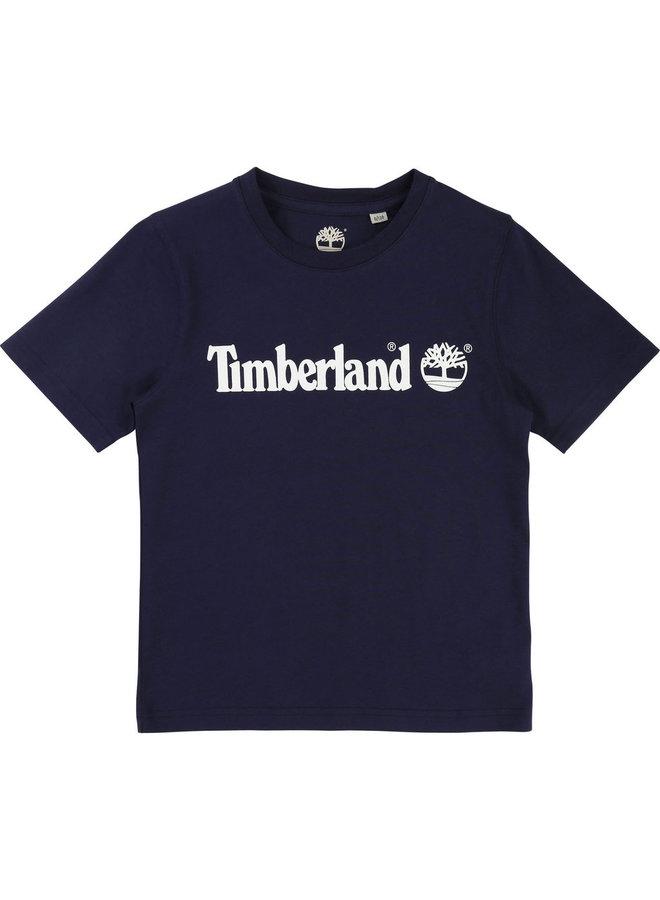 Timberland T-Shirt blau Logo