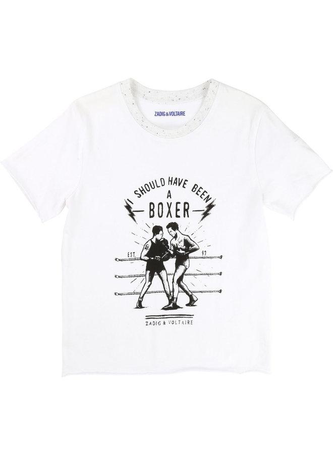 Zadig & Voltaire T-Shirt Boxer weiß