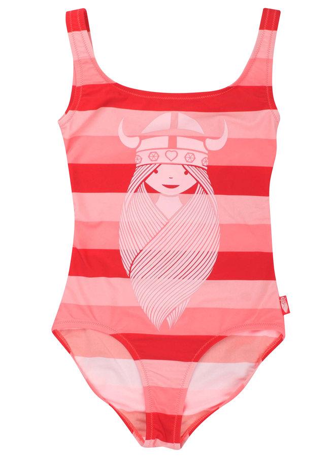 DANEFAE Badeanzug rosa pink rot Freya