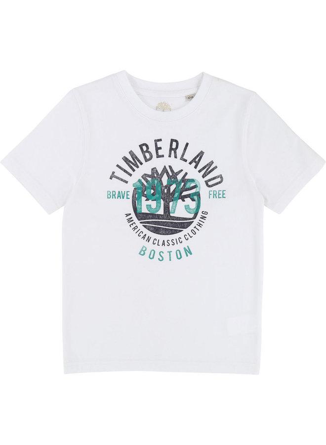 ´Timberland T-Shirt Logoprint  weiß