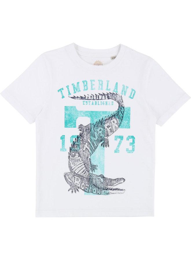 ´Timberland T-Shirt krokodil weiß grün